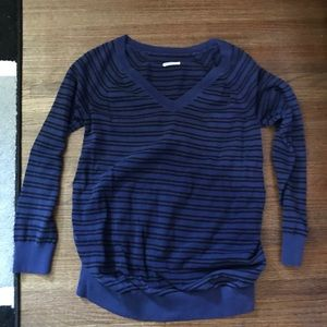 Old Navy Maternity large striped blue used sweater